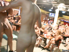 Horny MiLFs love to fondle the young male strippers