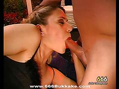 Delightful facial ejaculation