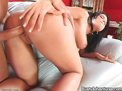 Gorgeous and sexy babe with big ass is having real fuck