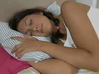 Completely naked teen dribblet is ready for some nasty action
