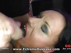 This raunchy hawt chick is swallowing the perv massive weenie