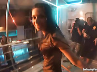 Licentious girl dancing and then fucking extremely i the club