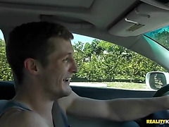 Dudes sensual snatch pounding is making beauty very wet