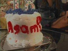 Happy birthday Asami, a giant dildo!
