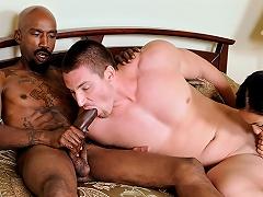 Bisexual 3Some! Mans Friend Sucks His Dick & GF Is Watching...