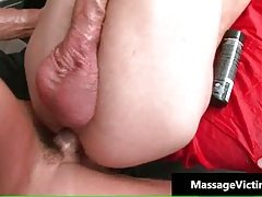 Dude gets super hot gay massage and gets fucked hard