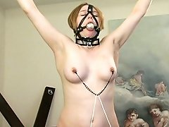 Bondage fantasy for this young chick