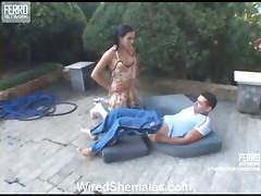 Calena cocky shemale on clip