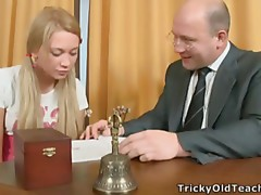 Old pervert licks wet cunt of sexy Sally.