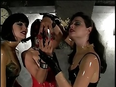 Latex Whore Tied Up And Beaten