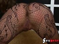 Bombastic pantyhose fetish babe
