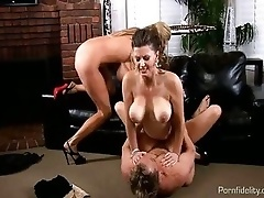 Lucky Guy Bangs Two Hot Busty MILFs