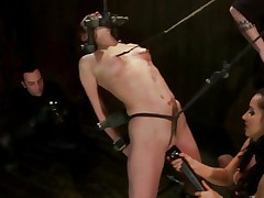 Bound Amber Rayne gets her moist moist clit tormented